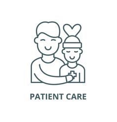 Patient care line icon linear concept vector