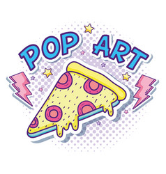 Pizza pop art vector