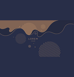 Poster with dynamic waves in vector