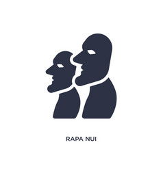 Rapa nui icon on white background simple element vector