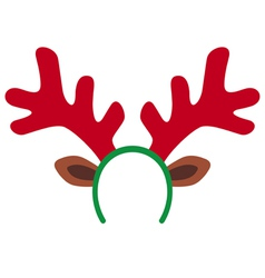 Reindeer mask vector