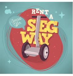 Rent a segway promotional poster flyer card design vector