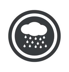 Round black rain sign vector
