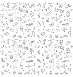 Seamless pattern of business and finance hand vector image