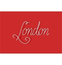 Sign London can be use for banners or greeting vector image