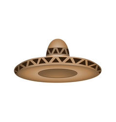 sombrero fashion brown hat modern elegance cap vector image