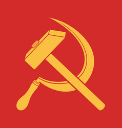 symbol ussr - hammer and sickle vector image