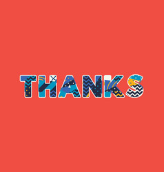 thanks concept word art vector image