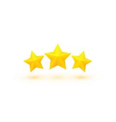 three golden stars vector image