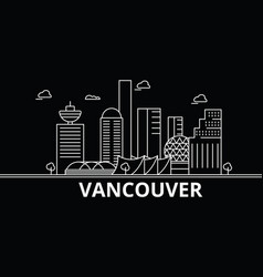 Vancouver silhouette skyline canada - vancouver vector