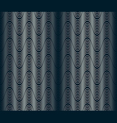 Wavy waveform lines seamless pattern 4 tiles on vector