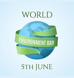World environment day background vector