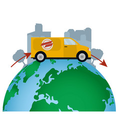 worlwide delivery service vector image