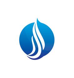 abstract circle wave logo image vector image