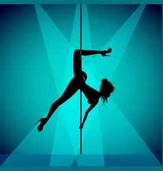 pole dancer girl vector image vector image