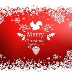red Christmas greetings vector image vector image