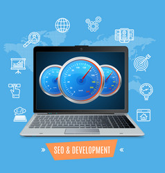 site speed test concept seo and development vector image