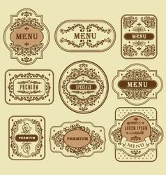 Vintage floral decorative label template vector image vector image