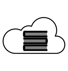 books in cloud icon vector image