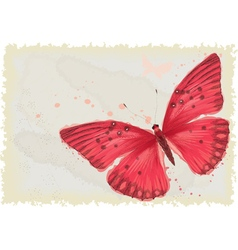 Red butterfly vector image vector image