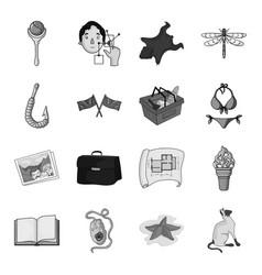 asterisk sea catand other web icon in monochrome vector image vector image