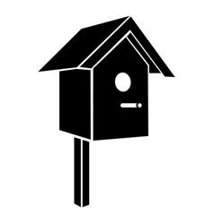 birdhouse icon simple black style vector image
