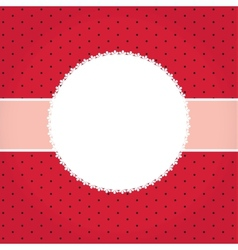 greeting card or cover with bow Space for your vector image