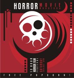 Horror film festival flat design concept vector image