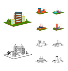 processing factorymetallurgical plant factory vector image