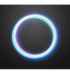 Round neon light trail special effect vector image vector image