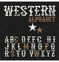 Western alphabet On the blackboard background vector image