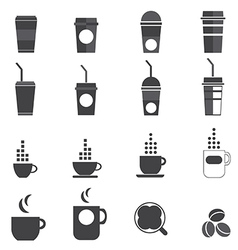 1208 Coffee icons vector image