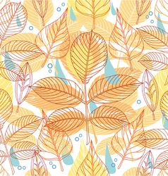 A seamless pattern with autumn leaves vector image vector image