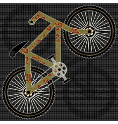 bicycle print design vector image vector image