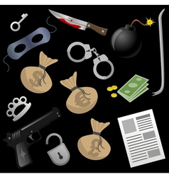gangster tools vector image