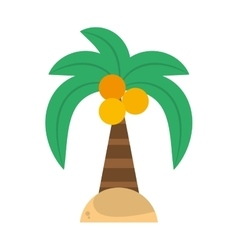 green palm coconut beach island vector image vector image