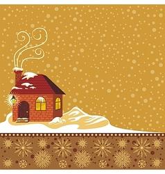 Winter Decorative Background vector image vector image