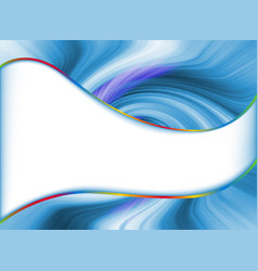 abstract background with swirl wave and place vector image