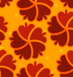 Abstract seamless texture with red flower vector