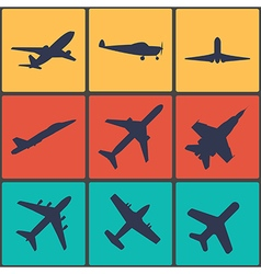 Airplane sign Plane symbol vector image