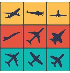 Airplane sign plane symbol vector