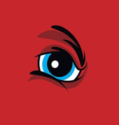 Angry monster eye vector