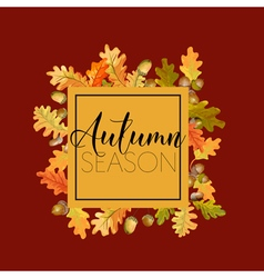 Autumn Leaves Background Floral Banner Design vector image