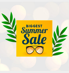 big summer sale background with glass wear vector image