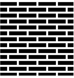 Black and white brick wall silhouette vector