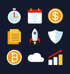 Business activity and strategy icon vector