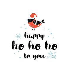 christmas quote new year season text happy ho ho vector image