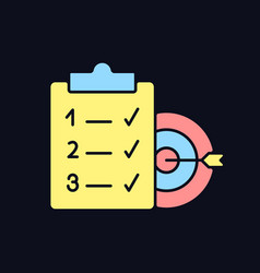 Clear goals rgb color icon for dark theme vector