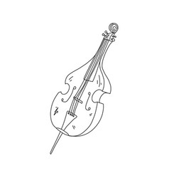 Cognitive flyer double bass sketch hand drawn vector
