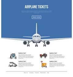 Commercial airlines poster with jet airplane vector